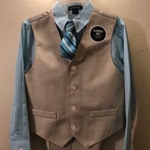 Brand New! Boys suit/ vest set.